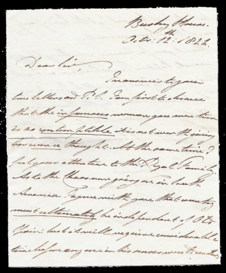 Duke Clarence King William IV Handwritten Signed Autograph Letter 1822 Ecuador